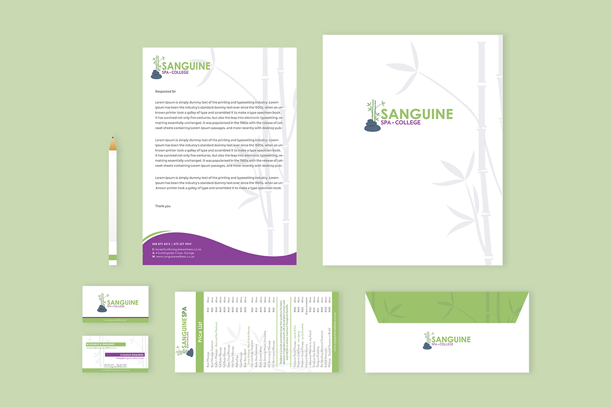 Sanguine Spa - Branding